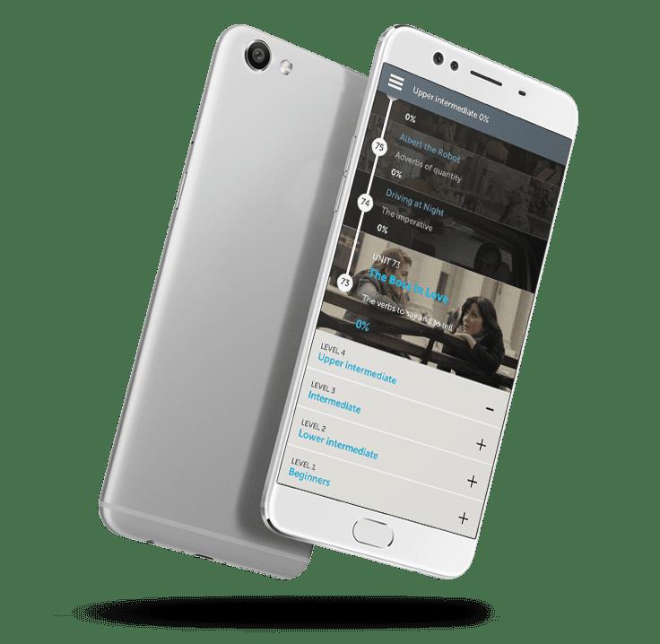 Curso para hablar inglés en aplicación móvil